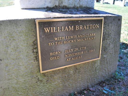 William Bratton's headstone - Old Pioneers Cemetery, Waynetown, Indiana