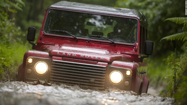 Land Rover Defender at home, off road.