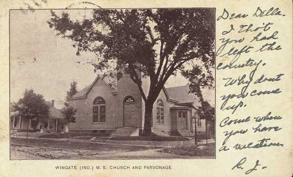 Wingate (Ind.) M. E.           Church and Parsonage