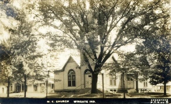 The M.E. Church, in Wingate, IN C.1910